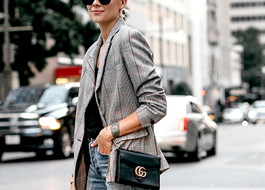 How To Wear Checked Blazer