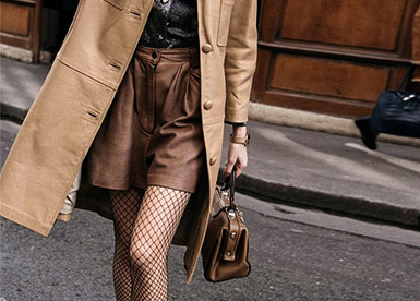 17 Idea to wear fishnet tights