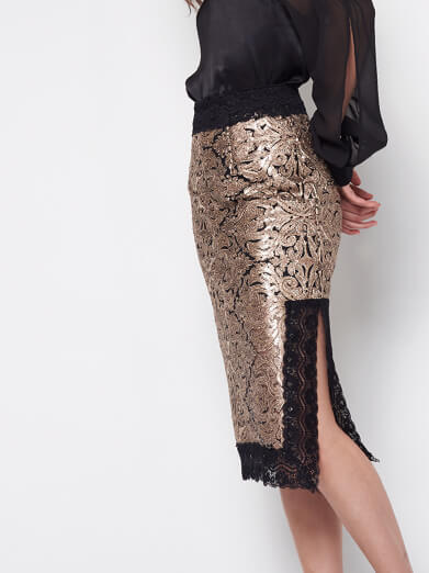 Straight Lace Skirt