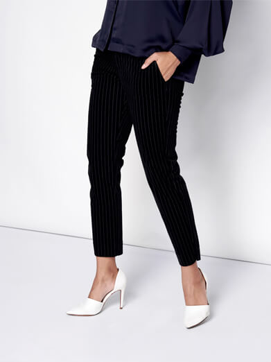 Pinstripe Suade Pants
