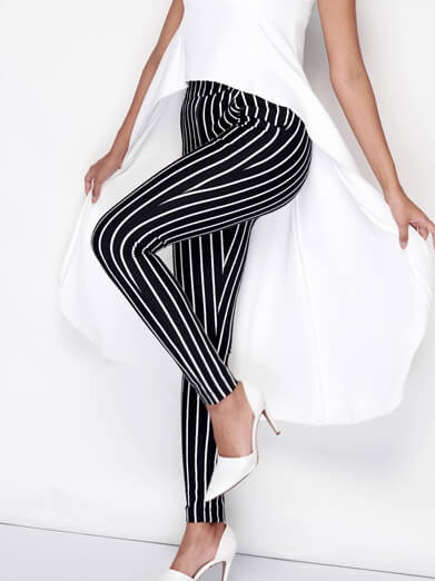 Stripes Skinny Pants