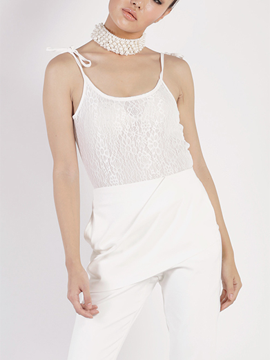Tie Up Lace Bodysuit